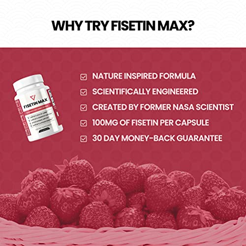 51gPsAE+QvS. SL500  - Fisetin Max | Nootropic Anti-Aging Supplement - Doctor Approved Antioxidant Support for Healthy Aging, Better Brain Health, Improved Energy Levels, and Maintaining Strong Memory* - 30-Day Supply