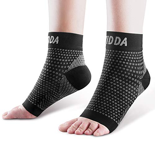AVIDDA Plantar Fasciitis Socks 1 PAIR, Compression Foot Sleeves for Sport Arthritis Pain Relief, Ankle Support Brace for Men and Women Black M