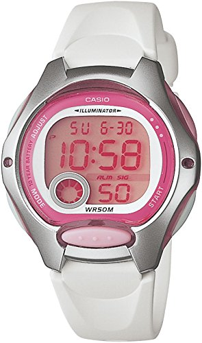 Casio LW-200-7A - Reloj de Cuarzo para Mujer, con Correa de Goma, Color Blanco