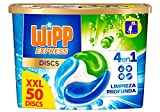Wipp Express Discs Detergente en Cápsulas, 50 Dosis, 1250 Gramos