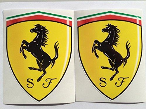 SBD Decals 2 Ferrari Protector de la Capilla de la Insignia Die Cut Adhesivos
