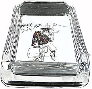 Fear Loathing Hunter Thompson Glass Square Ashtray D-328