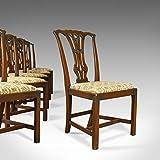 London Fine Antiques Juego de 6 sillas de Comedor Antiguas, diseño Victoriano inglés, Color Rojo