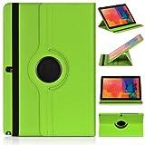 ratesell Struktur 360° Flip Hülle Tasche für Samsung Galaxy Note 12.2Pro P900/P905mit Standfunktion, grün