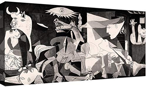 Canvashop Cuadros modernos Picasso Guernica 120 x 60 cm Impresión sobre lienzo Cuadro moderno salón
