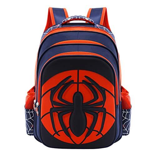 YeMao Spiderman Impermeabile Resistente Scuola dei Bambini Zaino Leggero per Ragazzi e Ragazze della Scuola Borse,B-S(26 * 16 * 35CM)