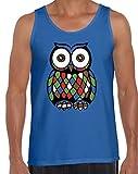 Awkward Styles Men's Owl Cute Tank Tops for Men Creative Gift Blue 2XL