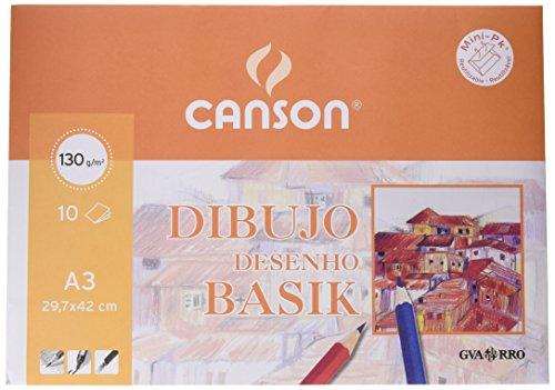 Minipack de 10 hojas de papel de 130 g Formato A3 Envase 10 unidades