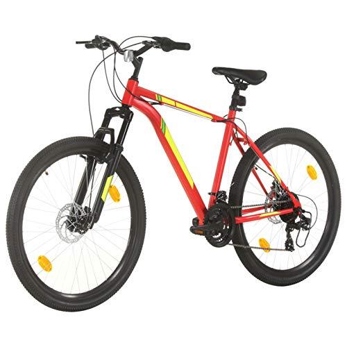 Tidyard Bicicleta de Montaña 21 Velocidades 27,5 Pulgadas Rueda 50 cm Bicicleta Montaña para Adulto Rojo