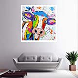 KWzEQ Imprimir en Lienzo Lindos Carteles de Pared de Vaca y decoración del hogar para Sala de estar60x60cmPintura sin Marco
