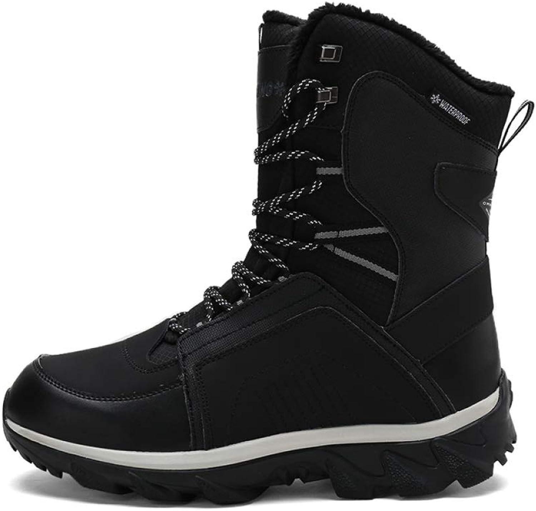 Stiefel Herren Mit Fell Warmer Schnee Stiefel Winter Fashion Rubber Ankle Schuhe (Gre  40X44)
