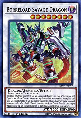 Borreload Savage Dragon - SAST-EN037 - Ultra Rare - 1st Edition - Near Mint - Savage Strike