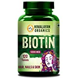 Himalayan Organics Biotin 10000Mcg for Hair Growth Tablets 120