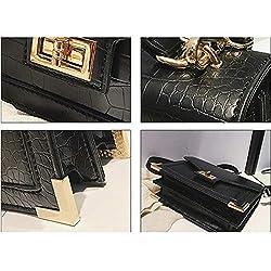 Fashion Shoulder Bag Leather Crossbody Crocodile skin Handbag Quilted Purse for Women Teen Girls White