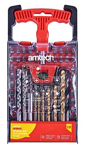 Amtech L1968 Combination Drill and Bit Set, 50-Piece