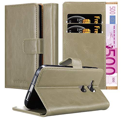 Cadorabo Hülle für Huawei G7 Plus / G8 / GX8 in Cappuccino BRAUN – Handyhülle mit Magnetverschluss, Standfunktion & Kartenfach – Hülle Cover Schutzhülle Etui Tasche Book Klapp Style