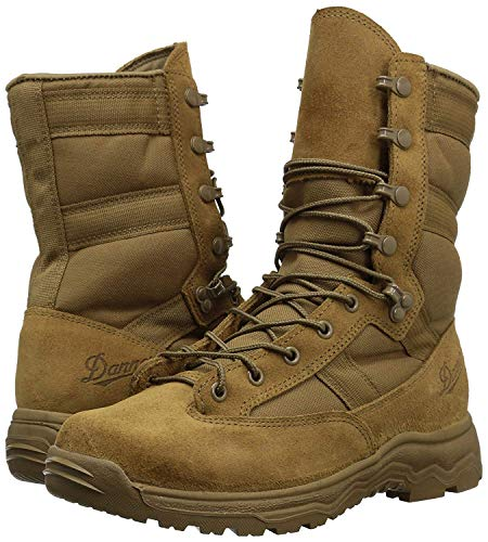 "Danner Men's Reckoning Hot 8"" Combat Boot,Coyote Full Grain Leather/Nylon,US 3 2"