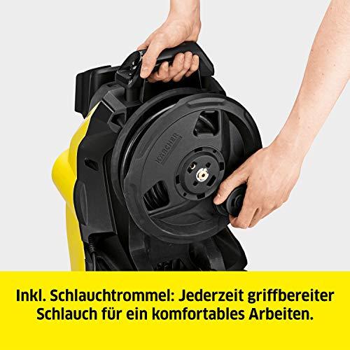 Kärcher Hochdruckreiniger K 4 Premium Power Control: Clevere App-Unterstützung - die passende Lösung für stärkere Verschmutzungen - inkl. Schlauchtrommel - 6