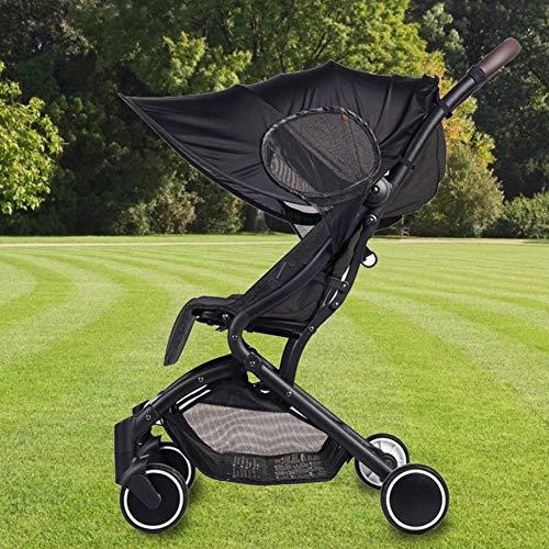 Eternitry - Parasol universal desmontable para bebé, resistente al viento, resistente al sol, accesorios para cochecito, resistente a los rayos UV, toldo de corazón