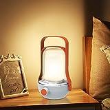 Table Lamp, SONATA Bedside Lamp 3 Light Modes Portable Night Lamp Night Light Dimmable Nightstand Lamp USB Rechargeable for Bedroom Living Room Kitchen Office Study Nursery Kids Room (Orange)