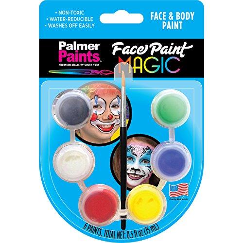 Palmer 11224-12 Face & Body Paint Pots, Multicolor