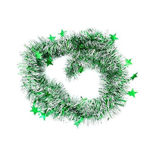 zhibeisai Adornos de Navidad con Guirnalda de Cinta Colorida Estrella para árboles de Navidad