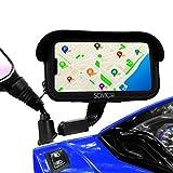 Sovica Soporte movil Moto Bicicleta Bici Impermeable Funda Protectora Visera antireflejos Valida para Smartphones hasta 7.2' sujecion al Espejo retrovisor irrompible Soporte para movil Bicicleta