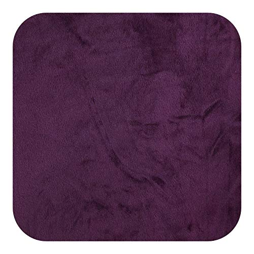Kabby Velvet Plush L Shaped Sofa Cover for Living Room Elastic Furniture Couch Slipcover Chaise Longue Corner Sofa Cover Stretch-Purple-Part A-A 145-190cm