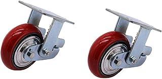 WaiMin 4 Heavy Duty Casters, Polyurethaan 360 Swivel Caster Stille Schokbreker, Universele Industriële Caster Trolley Verv...