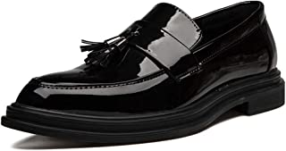 2019 Mens New Lace-up Flats Men's Casual Classic Tassel Comfortable Low Top Slip On Patent Leather Formal Shoes Fashion Oxford