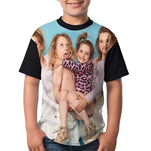 Norris Nuts - Camiseta de manga corta para niño con estampado en 3D para niños y adolescentes, Negro, XL