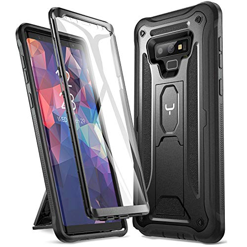 YOUMAKER Kickstand Case for Galaxy Note 9, Full Body with Built-in Screen Protector Heavy Duty Protection Shockproof Rugged Cover for Samsung Galaxy Note 9 6.4 Inch - Black