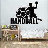 Handball Wand Vinyl Aufkleber Sport Aufkleber Home Interior Wanddekoration Wandtattoo57X40cm