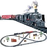 HENG Simulation Locomotive Électrique Train Jouets de Train Électrique Classique Miniature à Fumer Jeu Dimitation pour Enfants