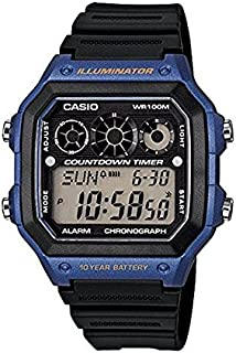 Casio Men's Digital Dial Black Resin Band Watch [AE-1300WH-2A]