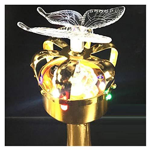 Cubeta de hielo 14 Cubiertas de la botella de vino de la corona dorada de la flaneada Cubierta de la botella de la decoración del champán brillante de la lámpara de la lámpara de la bombilla del tapón