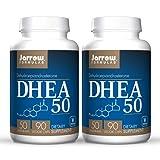 Jarrow Formulas DHEA 50 - 90 Veggie Caps, Pack of 2 - Vegan - 180 Total Servings