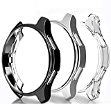 FitTurn Compatible with Samsung Galaxy Watch Case 42mm Soft TPU Scractch-Resist Frame Shock Case Protector Protective Cover Shell for Samsung Galaxy Watch 42mm SM-R800/SM-R815 Smartwatch (BSC)