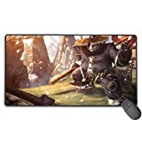 Mists of Pandaria Warcraft Extended Size Professional Gaming Mouse Pad World of Warcraft Computer Keyboard Pad Mat Ultra Thick 3Mm 15.8X35.5 in(40Cm X 90Cm)
