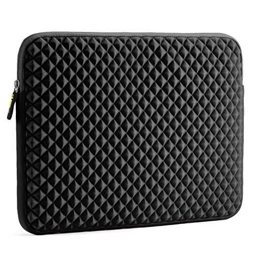 Evecase 15-15,6 pollici Custodia, Diamante Schiuma Neoprene Sleeve borsa per Laptop, Computer Portatile, MacBook Pro con display Retina, Ultrabook - Nero