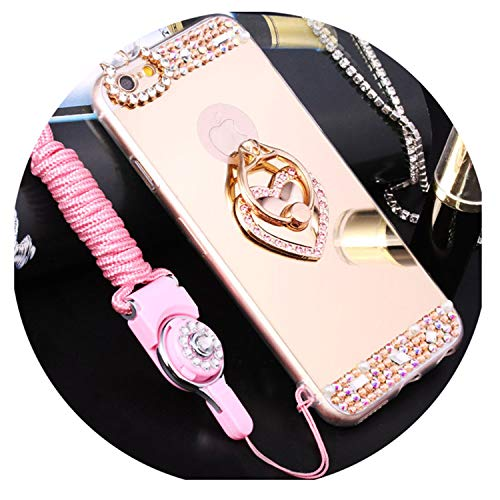 Retail Package:No Features:Finger Ring Holder Mirror Case Type:Rhinestone Case Size:For Iphone X 8 7 8Plus 7Plus 6 6S 6Plus 6Splus 5 5S SE Function:Kickstand,Dirt-Resistant,Anti-Knock,With Finger Ring