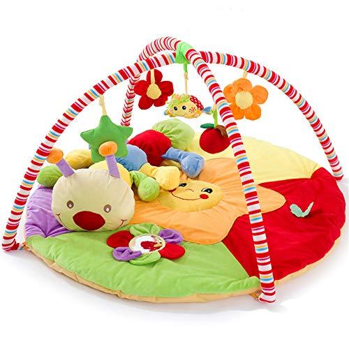 Lulu Couverture De Jeu pour Bébé|Musique Gym|Tapis Rampant|Flanelle|90 × 90|0-2 Ans