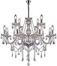 Lustre de Cristal para 12 Lâmpadas E14 Glam Taschibra Conhaque