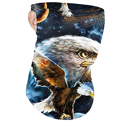 Cara Ma-sk Diadema con bucle para la oreja Espacio Cosmic Bald Eagle Galaxy A prueba de viento Media cara cubierta Bufanda Bandana Headwear Balaclava