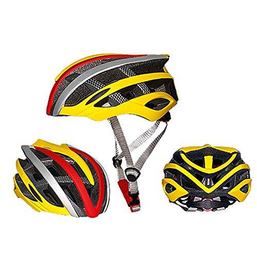 Kaper Go Mountainbike-Reithelm-Eislauf-Skateboard-integrierter Formteil-Sturzhelm-Männer Und Frauen (Color : Yellow)