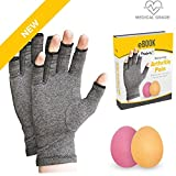 Leine | Arzt empfohlen Arthritis Heilung Handschuhe und Übung Ball set| Full Heilung Handbuch | rheumatischer Arthrose Kompression | Aids Schmerzlinderung -