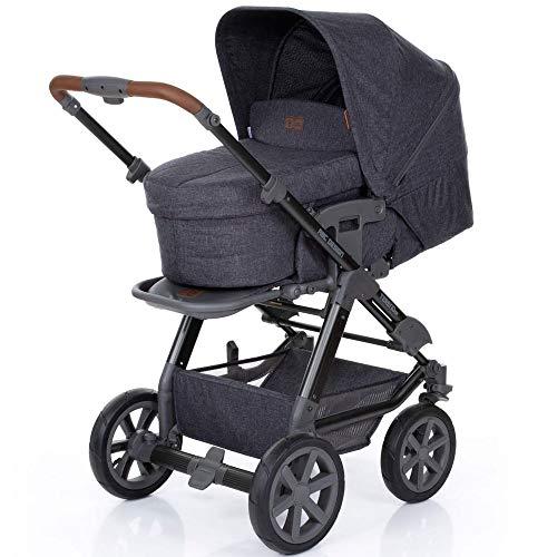 ABC Design Kombi Kinderwagen Tereno 4 Air mit Babywanne und Sportwagen Buggy Aufsatz | Kinderwagen-Set mit Luftreifen und verstellbarem Schieber - Street