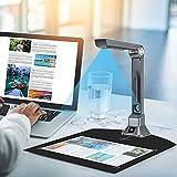 Kacsoo Cámara de Documentos portátil 10 MP Proyector HD en Tiempo Real A4 Tamaño de Captura Reconocimiento de Texto OCR para Escanear Documentos y Pasaporte, Videoconferencia, Educación a Distancia