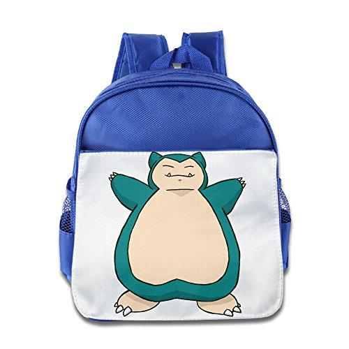 Pokemon Snorlax Kid hisper Rucksack Schultasche Blau Königsblau Einheitsgröße
