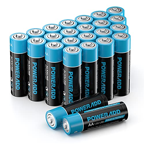 AA Batterien, AA Alkaline Batterien LR6 Mignon 24 Stück, LR6 AA Mignon Batterien 1,5 V Akku 10 Jahre Haltbarkeit für Fernbedienung Radio Wecker und Uhr